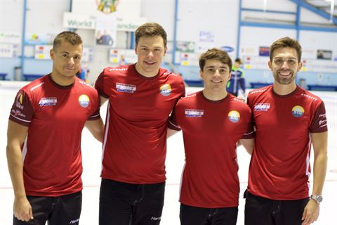 Equipe de Genève, de g. à dr.: Valentin Tanner, Claudio Pätz, Benoît Schwarz, Peter De Cruz